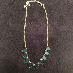J.Crew emerald green teardrop necklace
